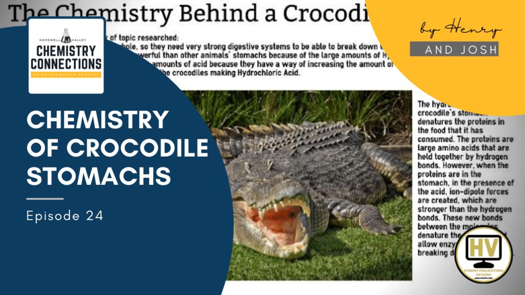 Chemistry of a Crocodiles Stomach